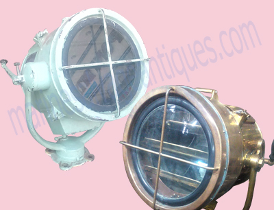 antique ship searchlight