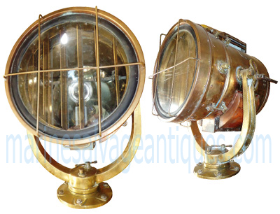 antique searchlight