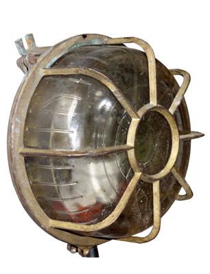 Brass Bulkhead Light