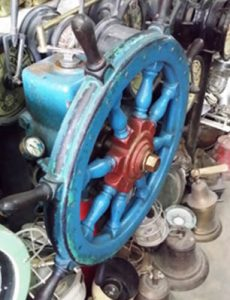 Ship Wheel Steering Station