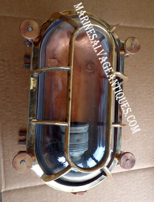 Antique Brass Bulkhead Light